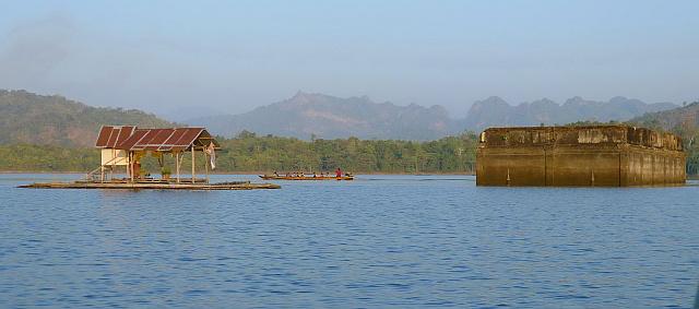 Sunken Temple Khao Laem Lake
