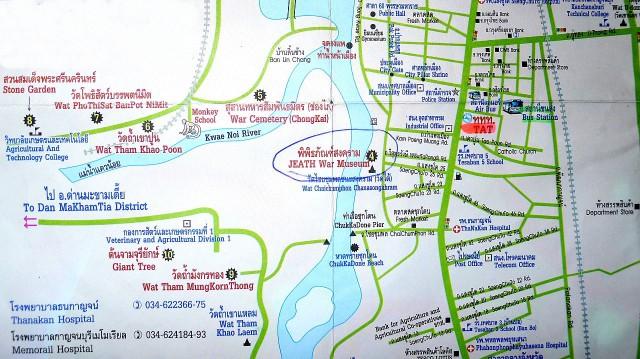 TAT Map Kanchanabri