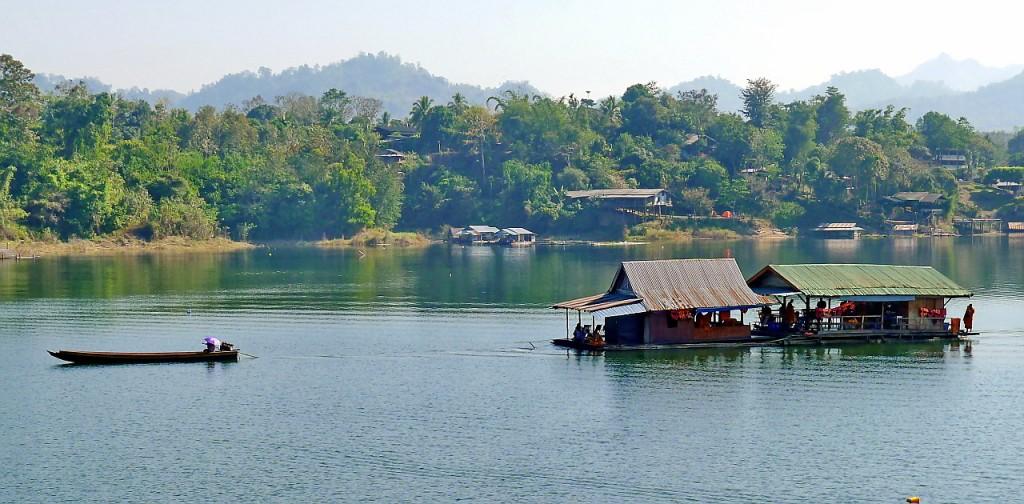 Monks Khao Laem Lake Sangkhlaburi