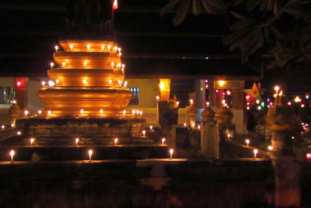 Candlelight temple