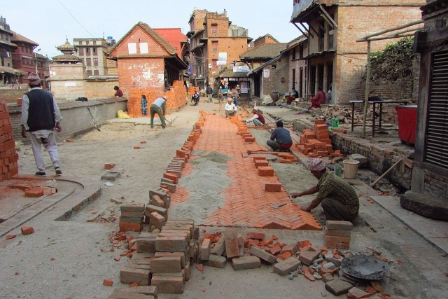 Street repair Bhaktapur style
