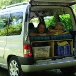 Us in car
